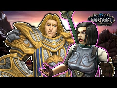 Anduin Meets Taelia (Bolvar's Daughter) as Kul'Tiras Joins the Alliance (WOW BFA)