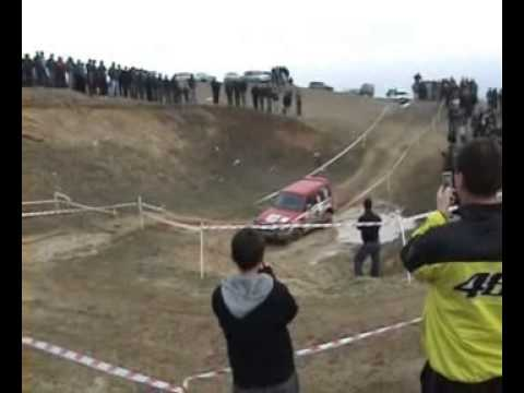 OFF ROAD ,  mitsubishi pajero crash ,  FAIL