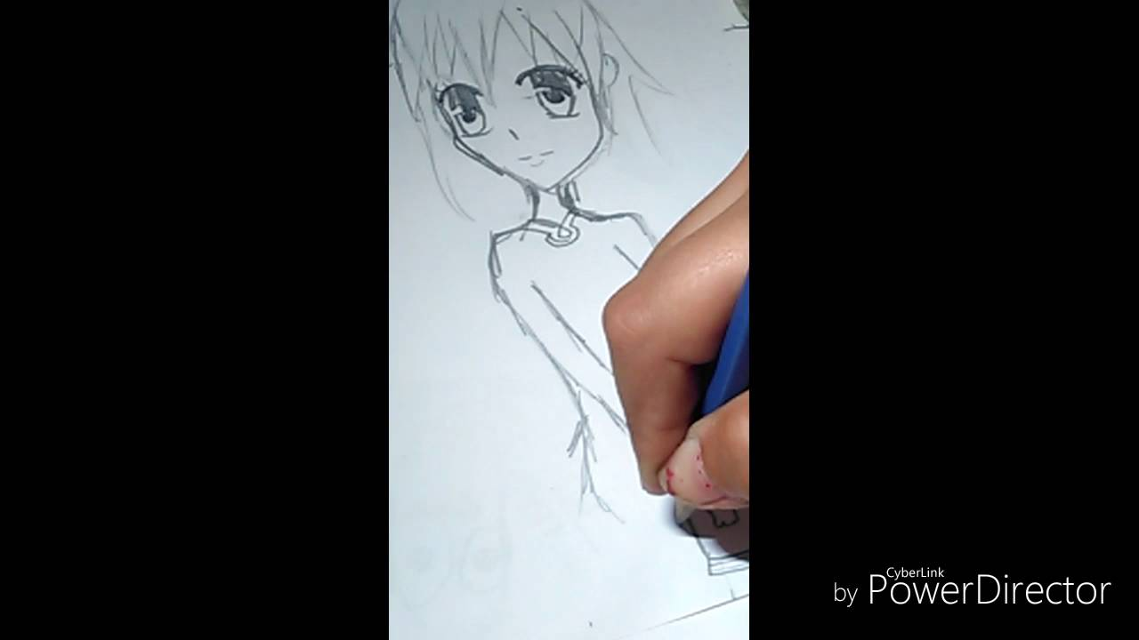 Tutoriel pour dessiner une fille chat manga youtube - Fille manga chat ...
