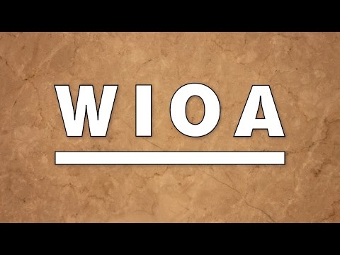EDSI - The Workforce Innovation and Opportunity Act (WIOA) in Motion
