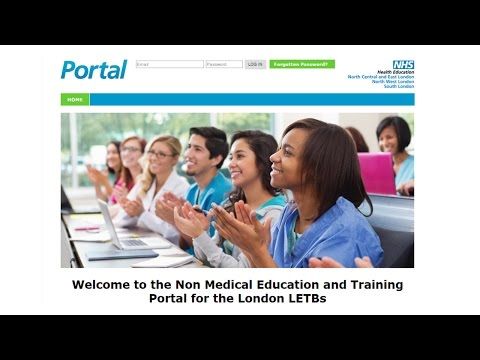 Non Medical Education and Training Portal - Training Video
