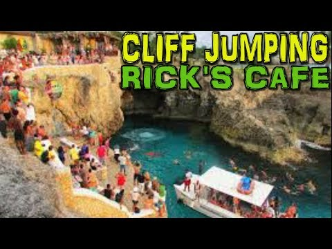 CLIFF JUMPING at Rick's Cafe - Negril - Jamaica 4K
