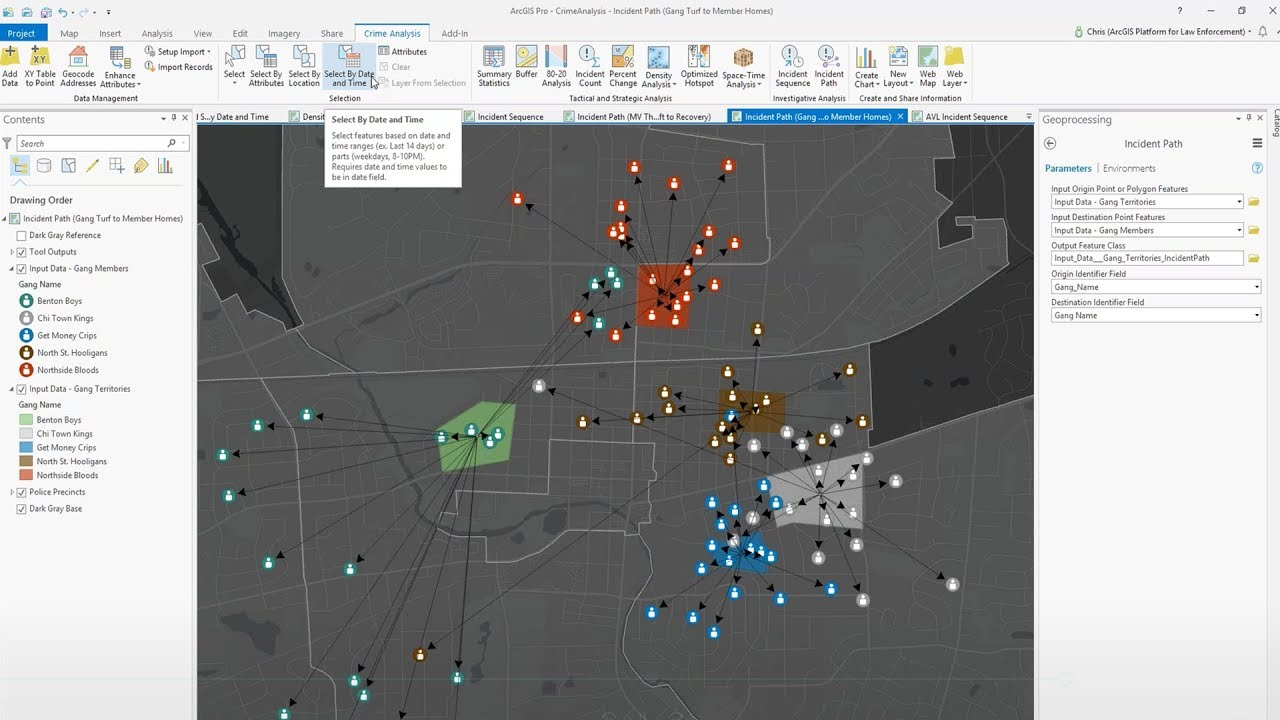 Introduction to the New ArcGIS Pro Add-In to Support Crime Analysis  Workflows by Esri Industries