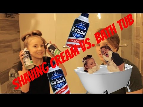 Shaving Cream Bath Challenge
