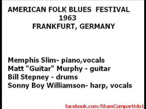 AMERICAN FOLK BLUES FESTIVAL - FRANKFURT, GERMANY. 1963