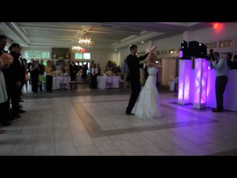 First dance to Michael Buble Everything and Francis Dillon Bun up the dance