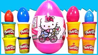 GIANT SURPRISE EGGS HELLO KITTY TOYS | Unboxing a HUGE SURPRISE EGG Full With Other Surprise Eggs