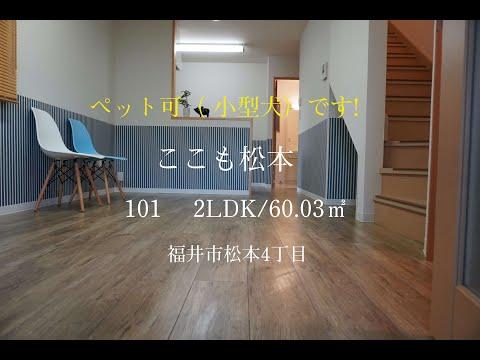 福井市松本 ペット可物件の空室出ました!