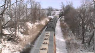 Railfanning Around Cedar Rapids & Fairfax, IA - 2-22-14
