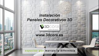 Gambar cover Paneles Decorativos 3D instrucciones de montaje por 3Dcora.es