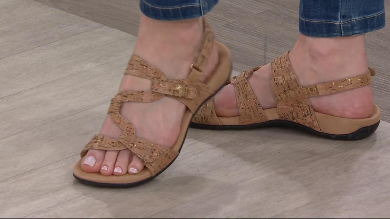 5969bf2fbf98 Vionic Orthotic Sandals with Backstrap - Paros on QVC - YouTube qvc vionic  shoes video