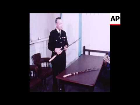 SYND 12 1 78 POLICEMAN INTERVIEWED ON BIRCHING IN THE ISLE OF MAN