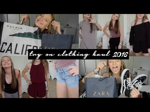 TRY ON SPRING CLOTHING HAUL 2016