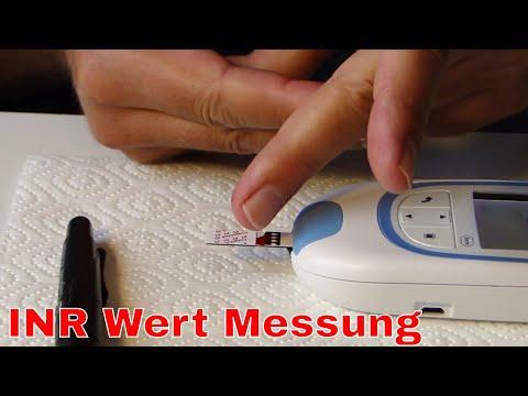 INR Wert Messung - CoaguChek INRange System