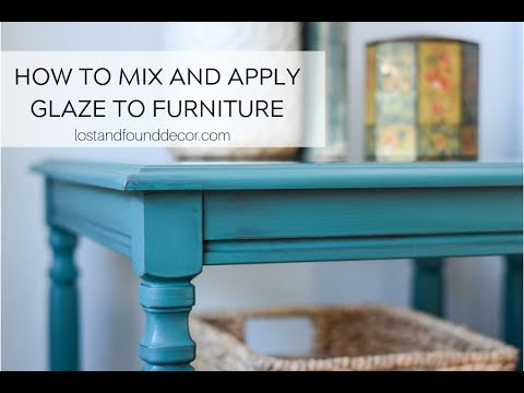 How to Apply Glaze to Painted Furniture