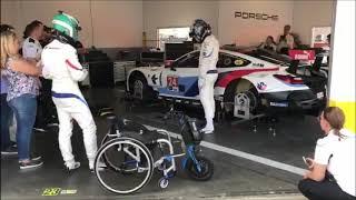 Alex Zanardi practicing driver change