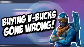 BUYING V-BUCKS GONE WRONG... (Fortnite Funny Moments)