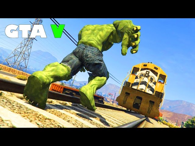 Gta 5 Mods - Fun Time With The Incredible Hulk Mod