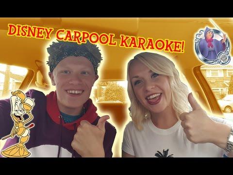 Disney Carpool Karaoke with My Sister! | RSRobStar