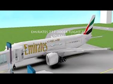 ROBLOX Emirates 777-300ER Flight