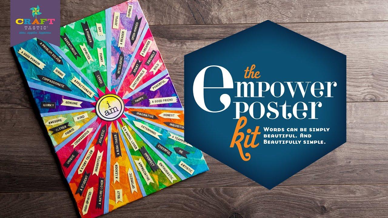 Poster design kit - Craft Tastic Empower Poster Kit