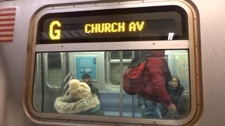 NYC Subway Special: R160 (G) Exterior Destination Sign To Church Avenue