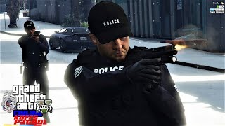 GTA 5 Mod KUFFS FiveM Police Roleplay #338 I Got Shot While Working Over Time Hours With The LSPD