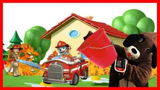 Puppy Marshall and HappyDog put out a dangerous fire | Firemen cartoons | Videos for kids