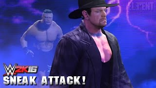WWE 2K16 SNEAK ATTACK! Running in on Undertakers Entrance