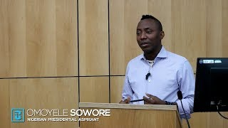 Gambar cover Omoyele Sowore - Nigeria Is Not The Most Corrupt Country In The World