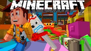 MINECRAFT TOY STORY ADVENTURES | WOODY AND BUZZ ESCAPE FORKY FROM DAYCARE | Minecraft Xbox