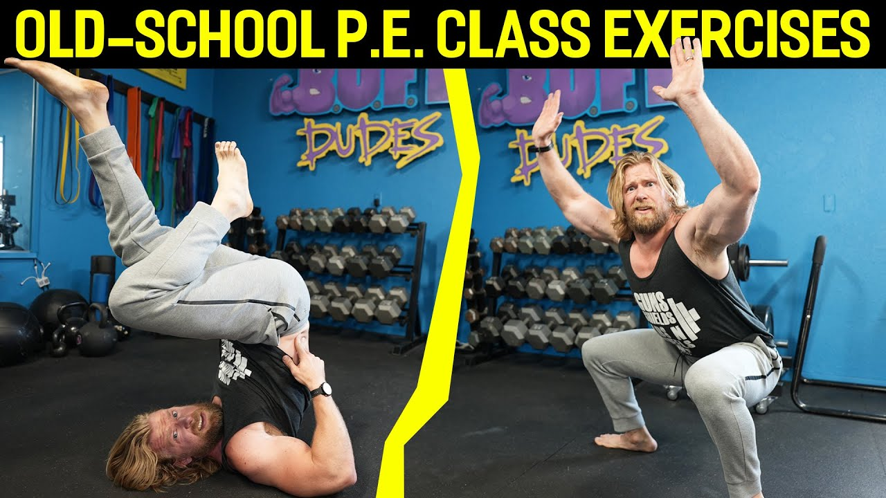 We Tried an OLD SCHOOL 1960s P.E. CLASS WORKOUT!