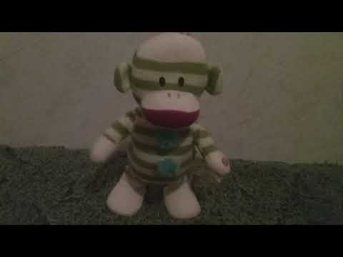 Gemmy Industries 2011 Animated Dancing Side Stepping Sock Monkey - Green