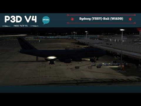 P3D V4 PMDG 747 V3 Sydney (YSSY)- Bali (WADD)