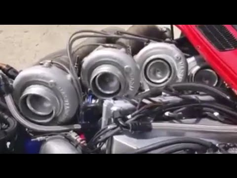 This is what a quad turbo rotary engine looks and sounds like