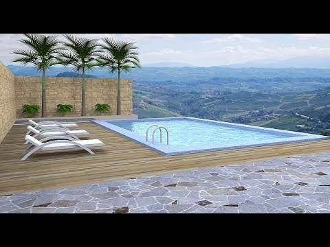 Sketchup tutorial (Make a swimming pool)