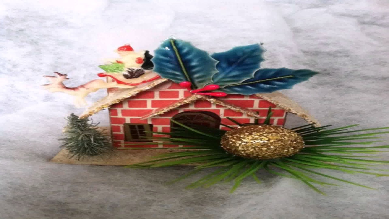 Vintage christmas trees and putzes 1910 - Vintage Style Putz House