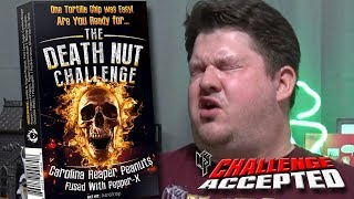 THE DEATH NUT CHALLENGE *WORLD'S HOTTEST PEANUTS* │ Carolina Reaper, Pepper X, and MORE!!!
