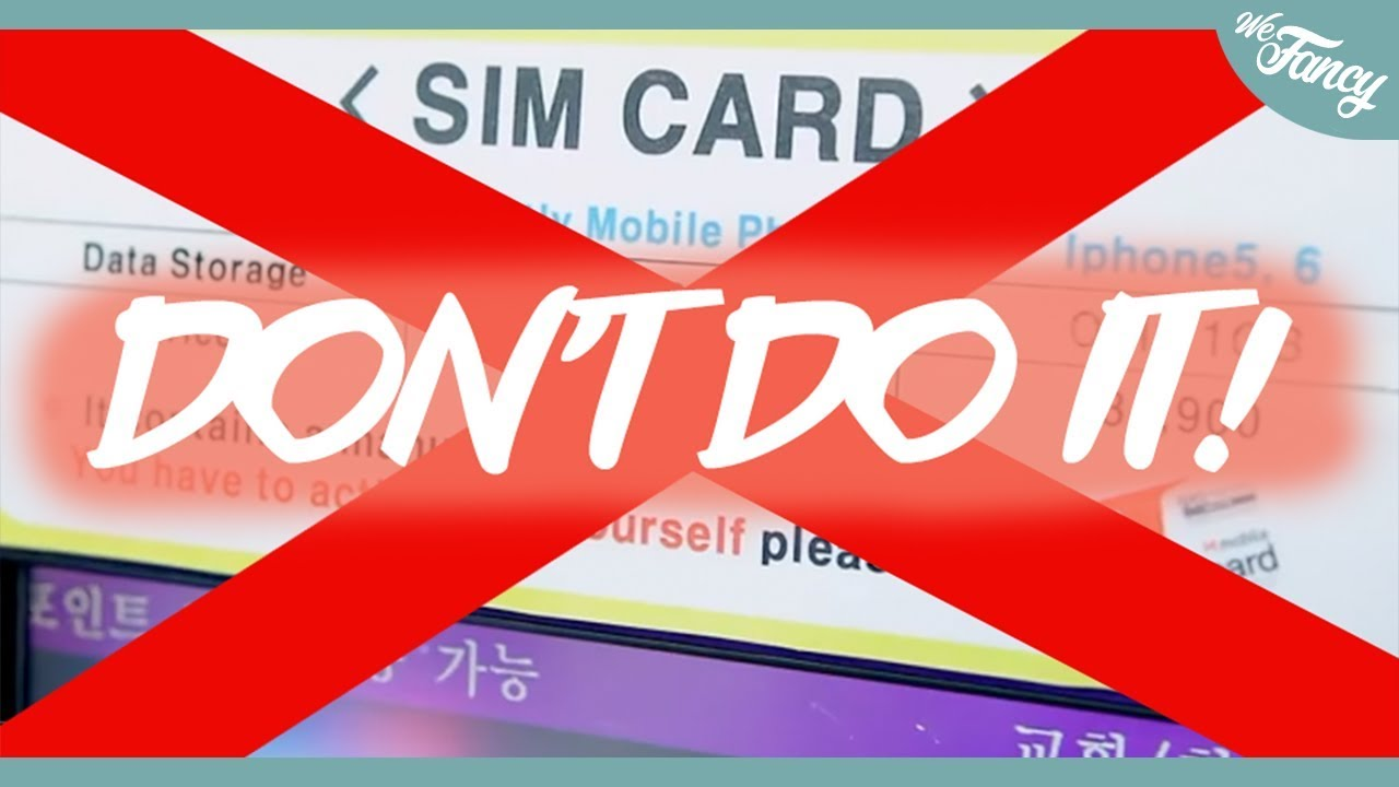 Dont Get A Sim Card In Korea Until You Watch This Video Youtube Et Data Jepang 8 Days