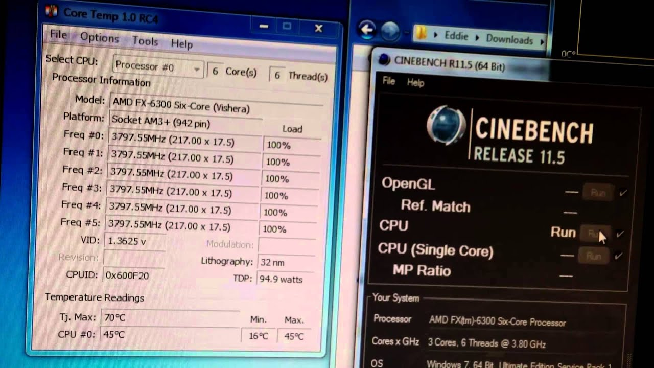 AMD FX-6300 overclock settings on stock cooler @ 3 8 GHz (4 4 GHz Turbo)