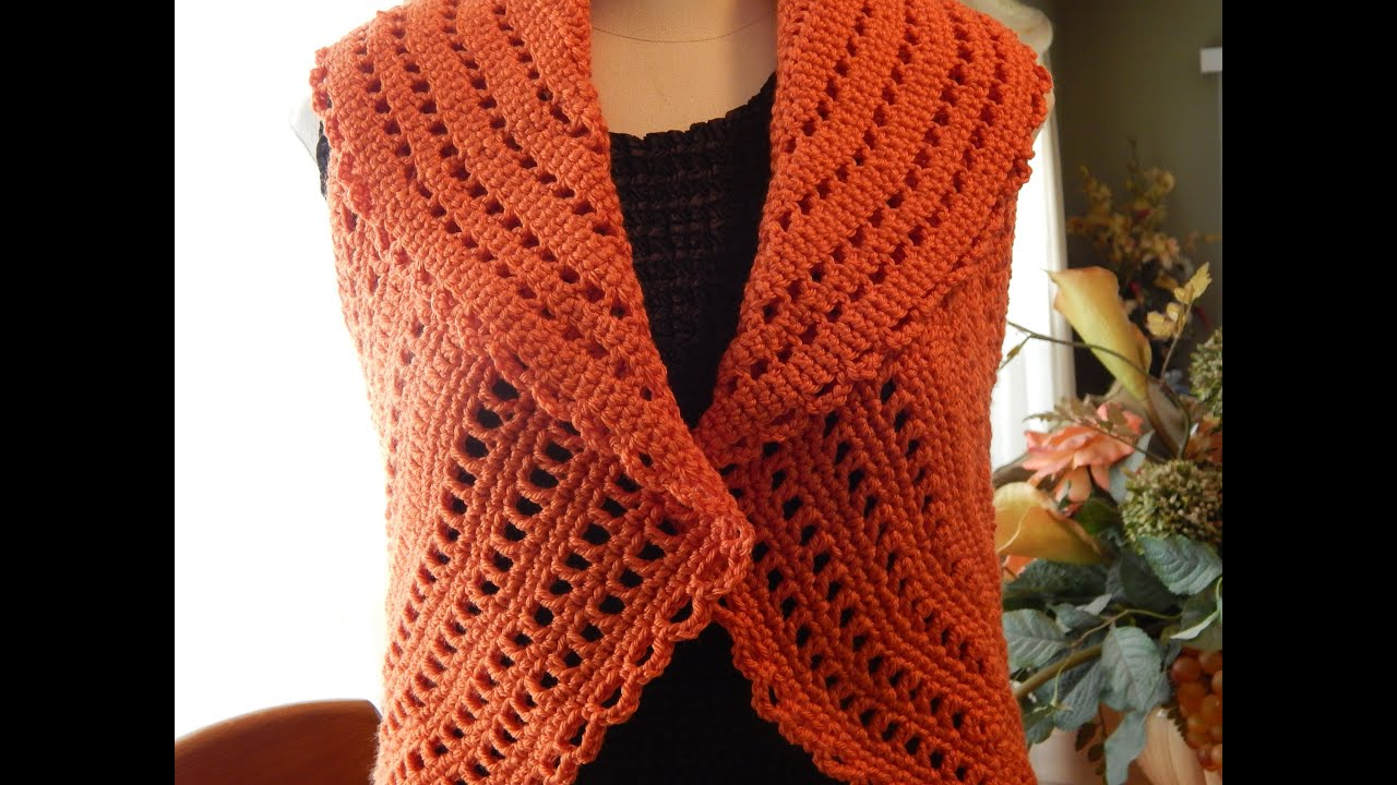 Crocheting In A Sentence : Bolero Chaleco Mandarina Crochet parte 3 de 3 - YouTube