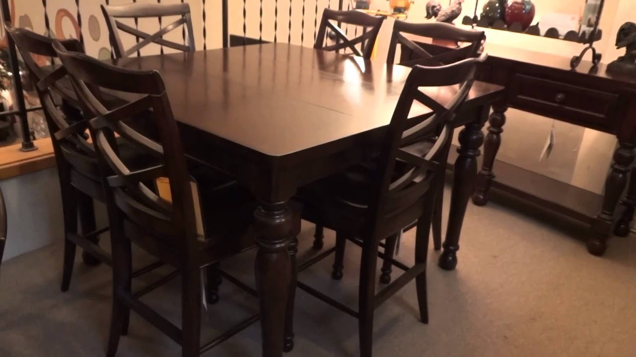 Ashley Porter Counter Height Extension Dining Set Review - YouTube