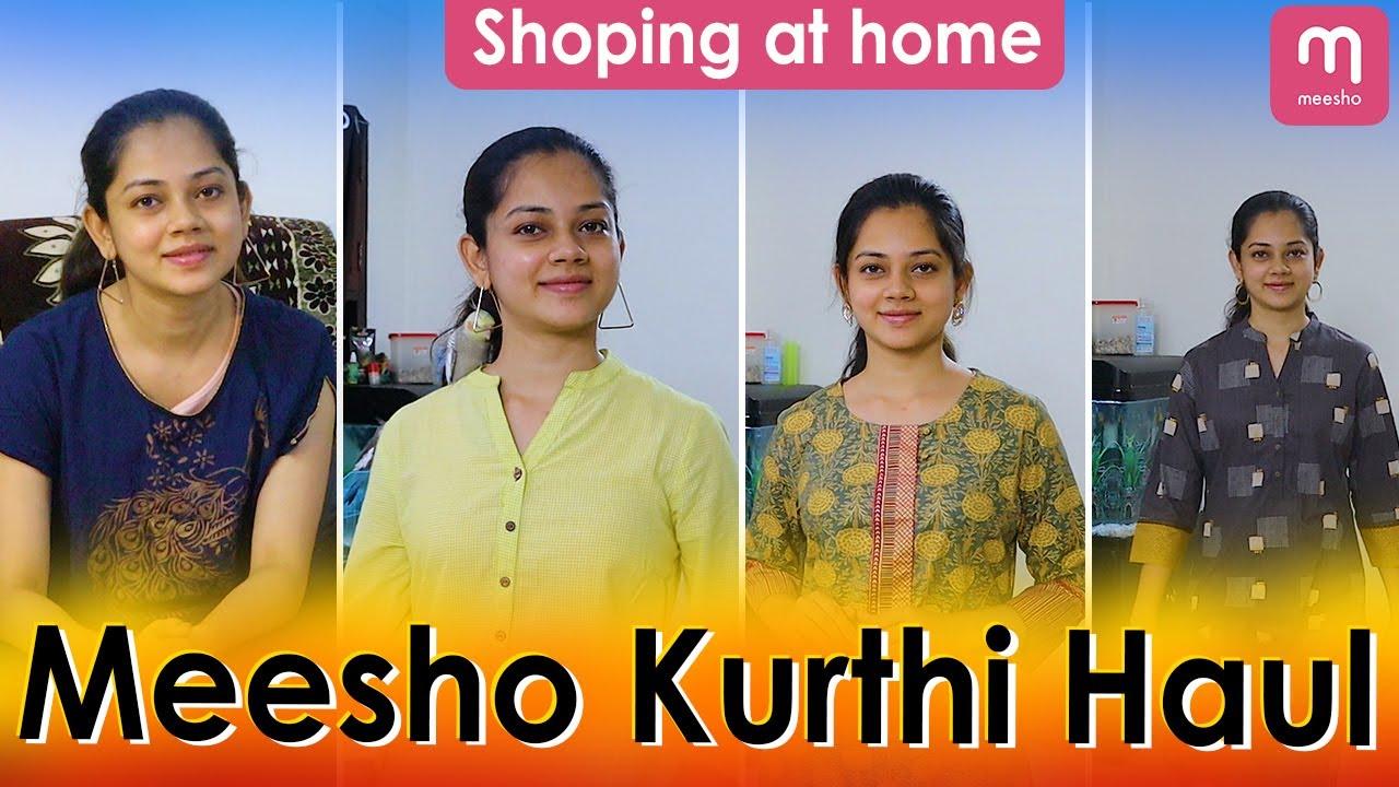 Meesho Kurthi Haul | Shopping at Home | Anithasampath Vlogs