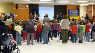"Jayson's Elementary School singing ""God Bless The USA"""