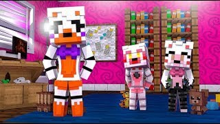 Lolbit Visits Her Daughters Mangle and Foxy Jr! (Minecraft Fnaf Daycare)