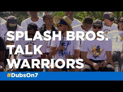 Steph Curry, Klay Thompson talk Warriors ahead of parade