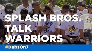 Steph Curry, Klay Thompson talk Warriors ahead of parade