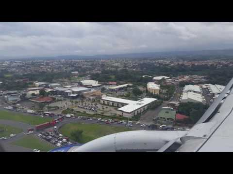 Landing in San José, Costa Rica