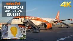 ✈ [4K] TRIPREPORT   Easyjet   Airbus A320   Amsterdam (AMS) - Geneva (GVA)   Economy Class