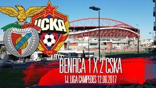 O JOGO Benfica 1 x 2 CSKA! estreia cinzenta! Liga dos Campeões 2017/2018